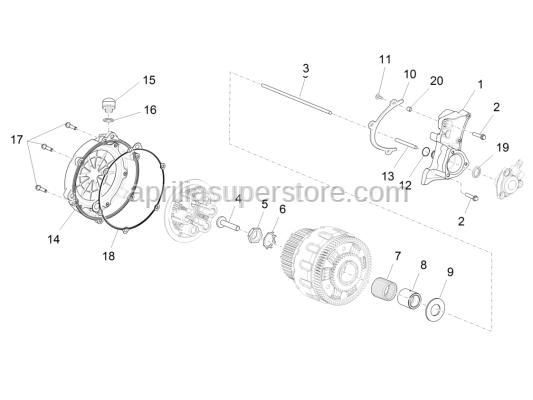 Aprilia - Clutch crankcase gasket