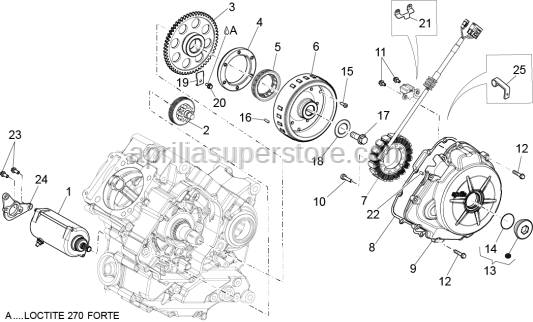 Aprilia - Screw w/ flange M14x30
