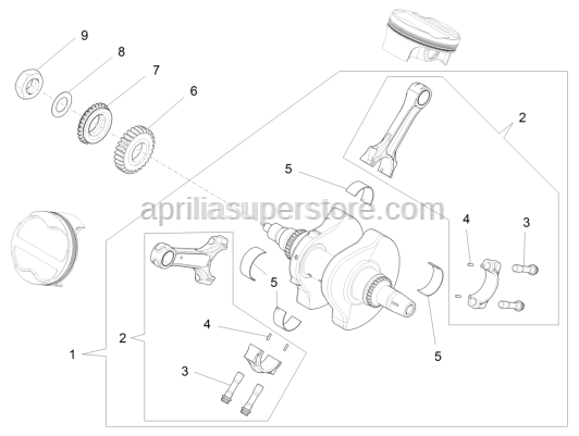 Aprilia - COMP. CRANKSHAFT WITH CONNECTING RODS
