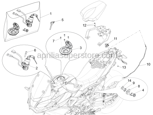 Aprilia - Hex socket screw M5x14