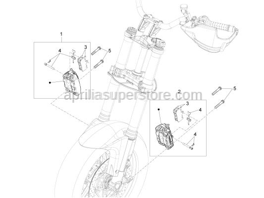 Aprilia - PADS SPRING-PIN-CLIP