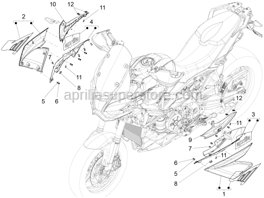 Aprilia - UPPER RIGHT FAIRING
