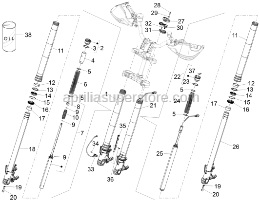 Aprilia - FRONT SUSPENSION ASSY