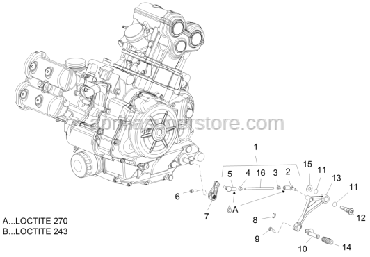 Aprilia - CONNECTING ROD GEAR ASSEMBLY