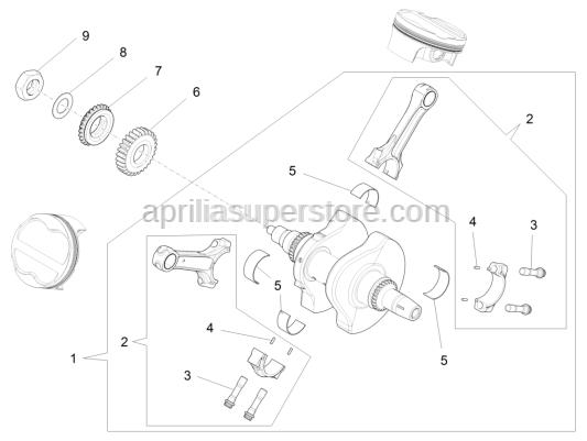 Aprilia - Primary drive gear Z=40