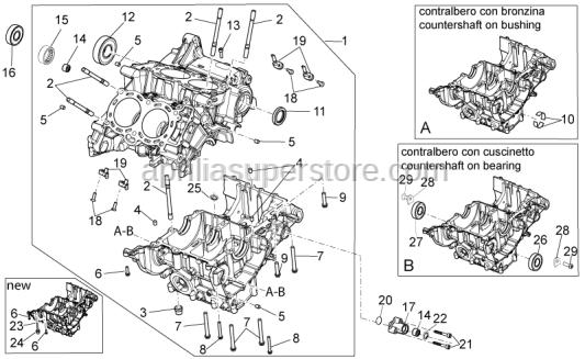 Aprilia - Pin M8x12