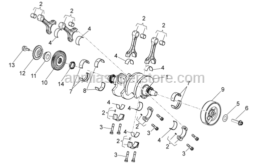 Aprilia - CRANKSHAFT, ASSY-CAT.AA-X S.P.