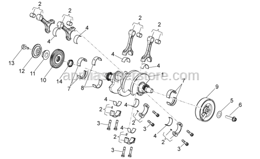 Aprilia - CRANKSHAFT, ASSY-CAT.CC-X S.P.
