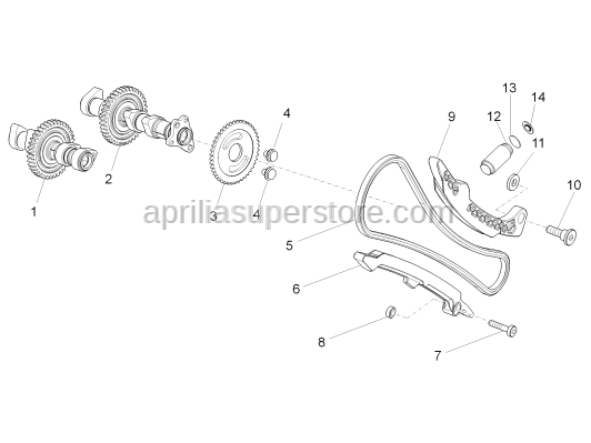 Aprilia - Exhaust camshaft