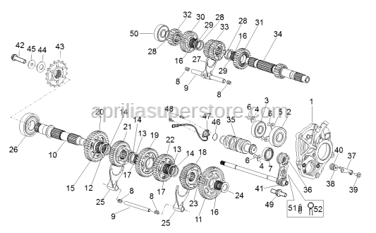 Aprilia - Screw w/ flange M6x25