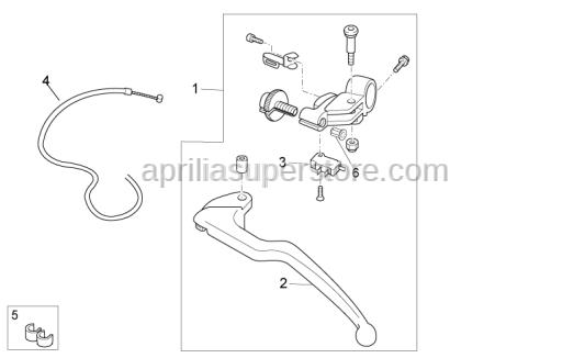 Aprilia - Clutch lever