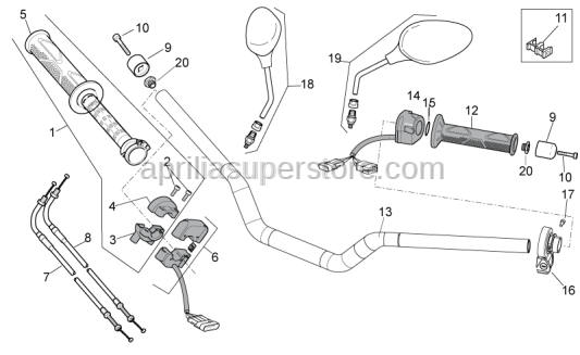 Aprilia - Rear gas lever U-bolt
