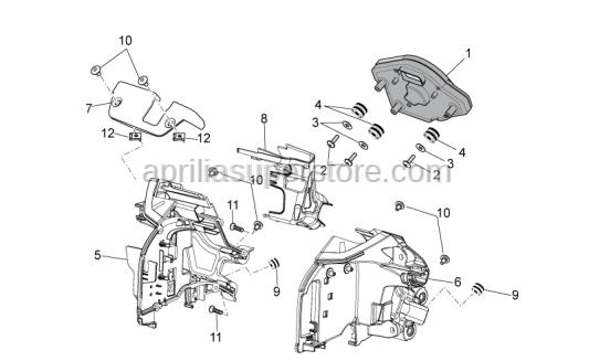 Aprilia - Hex socket screw M5x9