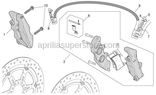 Aprilia - Pins+spring+cotter pin kit