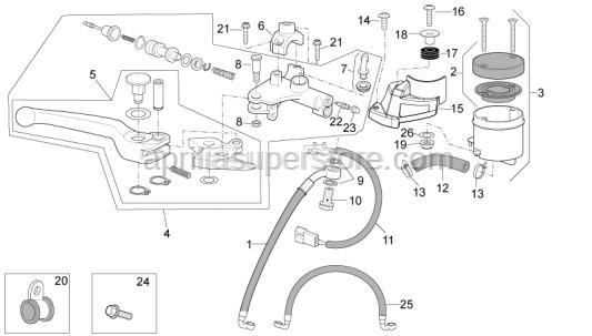 Aprilia - Oil brake tank supp.