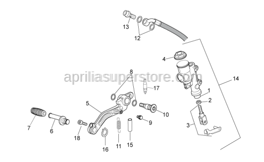 Aprilia - Push rod set