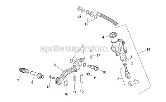 Aprilia - Push rod set