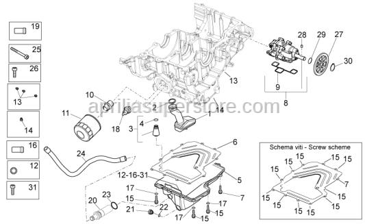 Aprilia - Oil valve cpl.