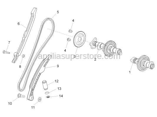 Aprilia - Special screw M6x18