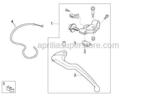Aprilia - Clutch lever cpl.
