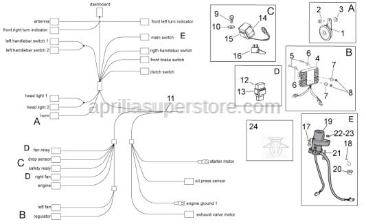 Aprilia - Washer 6,6x18*