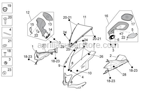 Aprilia - screw TBCEI M4X12