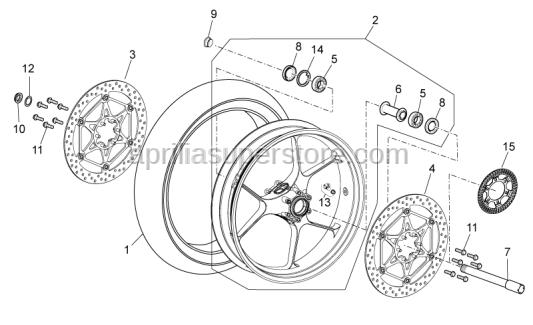 Aprilia - RH front brake disc