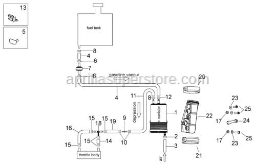 Aprilia - pipe SAE 30 d.11,11x4,8