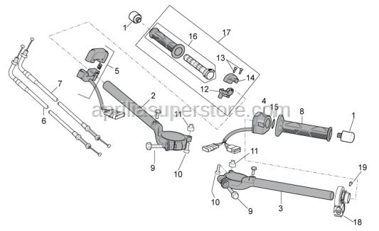 Aprilia - Front gas lever U-bolt