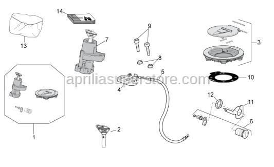 Aprilia - Fuel filler cap gasket