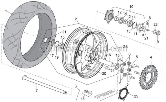 Aprilia - Rear tyre 200/55-17 M/C