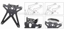 Tuono 1000 - OEM RSV Tuono 1000 2006-2009 PARTS - Lightech - Adjustable License Plate Bracket