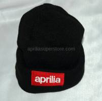 Black Slouch Beanie with embroidered Aprilia logo