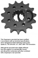 Shiver 750 - OEM Shiver 750 2008-2009 PARTS - Supersprox - Front Sprocket by Supersprox for Shiver 750 & Dorsoduro 750