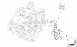 Engine - Water pump - Aprilia - Hex socket screw M6x25