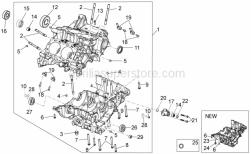 Engine - Crank Case I - Aprilia - Screw w/ flange
