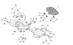 Frame - Dashboard - Aprilia - Phillips screw, SWP M5x20