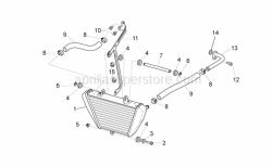 Frame - Oil Radiator - Aprilia - Black cable guide