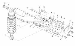 Frame - Rear Shock Absorber - Aprilia - Screw w/ flange M10x61
