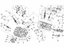 Engine - Cylinder head - valves - Aprilia - Pin