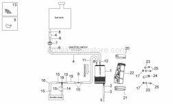 Frame - Fuel vapour recover system - Aprilia - pipe SAE 30 L.130