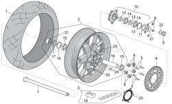 Frame - Rear Wheel - Aprilia - Gasket ring 38x55x7