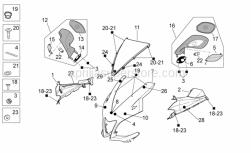 "Frame - Front Body I - Aprilia - OEM Aprilia Screw ""aprilia"" TBCEI M4X12"