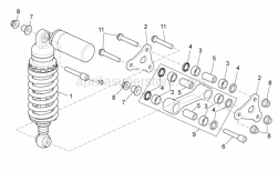 Frame - Rear Shock Absorber - Aprilia - Piston pin L=36