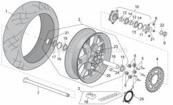 Frame - Rear Wheel - Aprilia - Wheel spindle nut M25x1,5