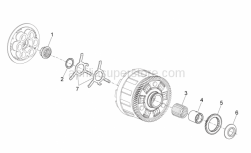 Engine - Clutch I - Aprilia - Nut