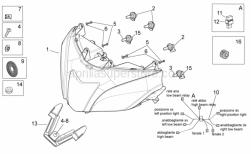 Frame - Headlight - Aprilia - Headlight wiring w/harness