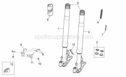 Frame - Front Fork - Aprilia - Sensor support