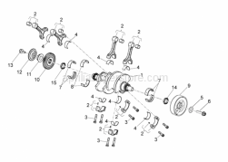 Engine - Drive shaft - Aprilia - Crankshaft cpl. is SUPERSEDED by B045412CC