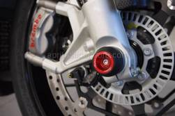 Tuono v4 - Crash Protection - Lightech - Front & Rear Delrin Axle Sliders with Aluminum Inserts